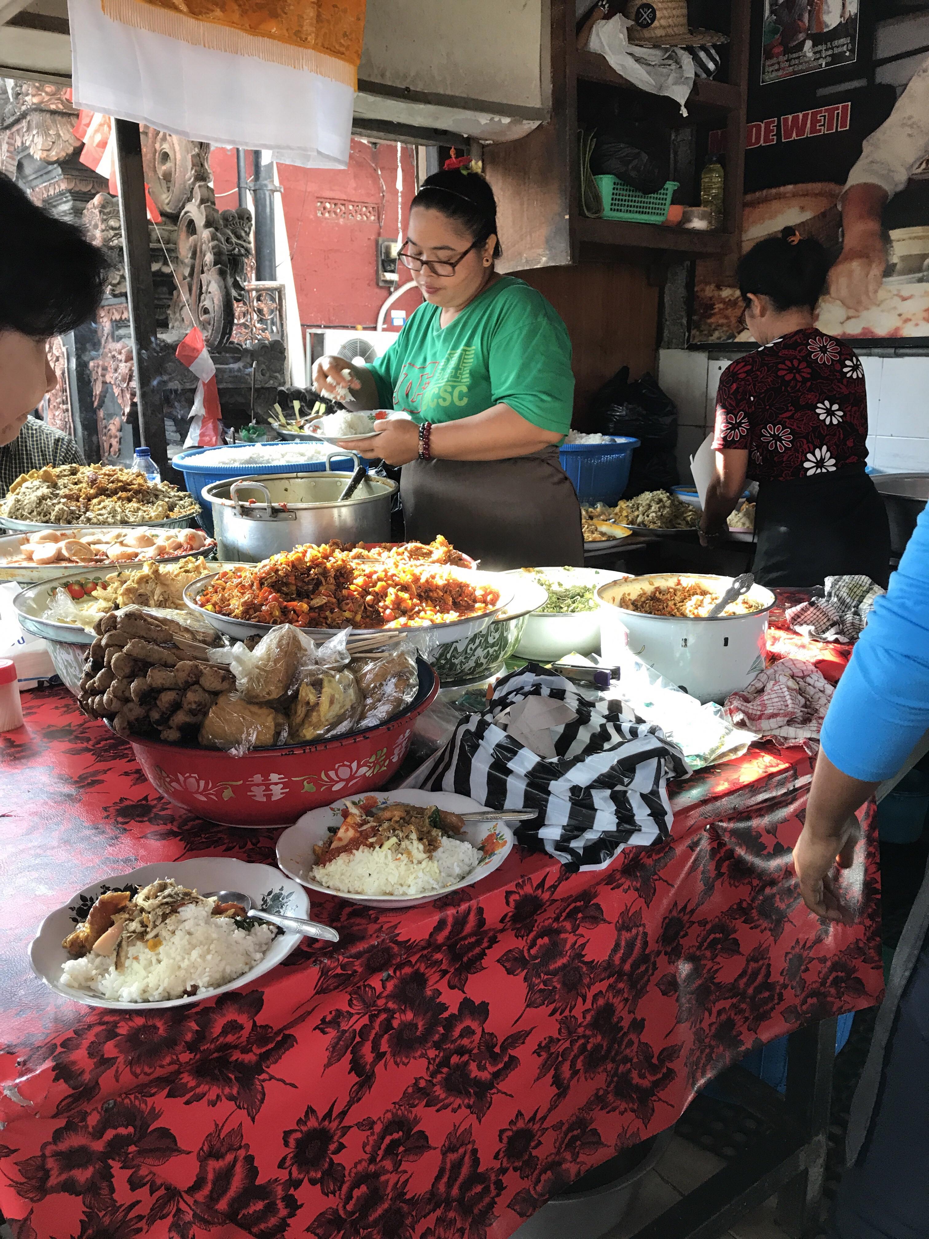 A popular warung in Sanur