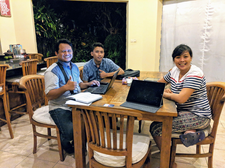 """Interviewing """"land agents"""", Ohana Retreat Bali"""